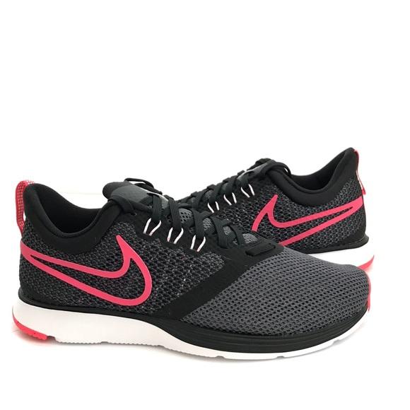 timeless design ab20b f78dd 2⬇ Girls Black Pink Nike Strike Running Shoe